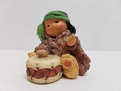 "Enesco ""little Tom-Tom Boy"" Drummer Boy Figurine 1997 Karen Hahn"