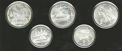 5 Roubles. 10 Roubles. Silver Moscow 80 Olympic Games Coin Set. Uncirculated