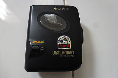 Vintage Sony Walkman Cassette Player WM-EX102 Mega Bass circa 92