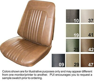 1971 Chevrolet Chevelle Front Bucket Seat Covers - Dark Saddle - PUI