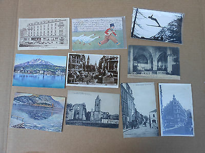 Postcard Lot of 10 Antique Europe Switzerland Norway Great Britain Holland