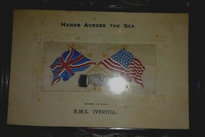 R.M.S. IVERNIA (Woven in silk)