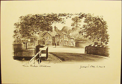 Town Bridge - Chesham - England - United Kingdom -  Vintage Judges Etch Postcard
