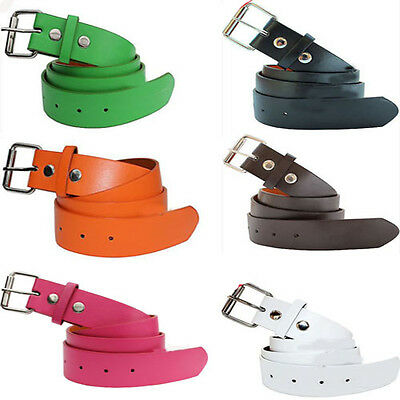 New Mens Women Faux Leather Belt With Removable Buckle Fashionable And Cheap
