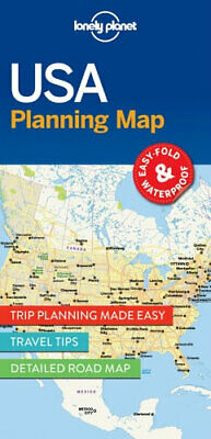 NEW USA Planning Map By Lonely Planet Folded Sheet Map Free Shipping