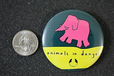 The Body Shop Animals In Danger Elephant Pin Pinback Button #18914