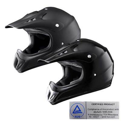 Motorcycle Helmet Motocross Motorbike Off Road Dirt Bike AS/NZS 1698 Size Opt.