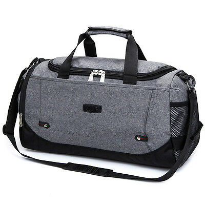 Travel Portable Luggage Holdall Unisex Sports Gym Bag Weekend Overnight Bag