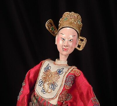 Chinese Opera Doll w/ Embroidered Silk Costume