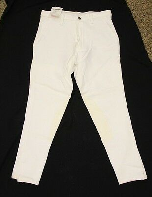 NEW Winston Riding Mens King Cotton Breeches White 32 R