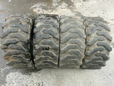 4 Used 23X8.5-12 Skid Steer Tires-23X8.50-12-for Bobcat,Case, New Holland & more