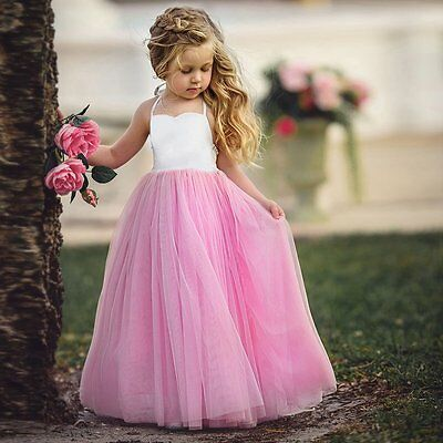 Flower Girls Toddler Kids Baby Princess Party Pageant Wedding Tulle Tutu Dresses