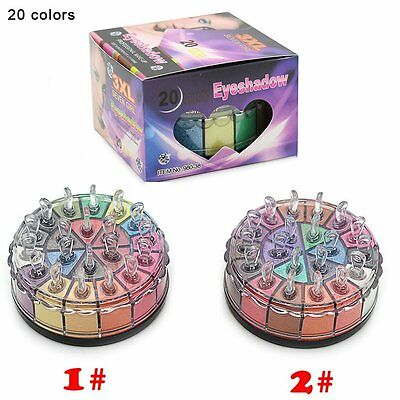 Professional 20 Colors Pigment Glitter Eye Shadow Powder Makeup Palette O5