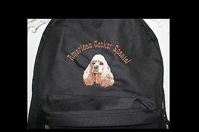 Cocker Spaniel Dog Embroidered On A Backpack