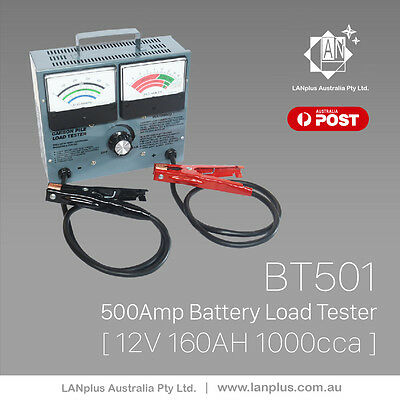 12V 500 AMP 500A Carbon Pile Load Car Battery Tester Analyser Checker BT501