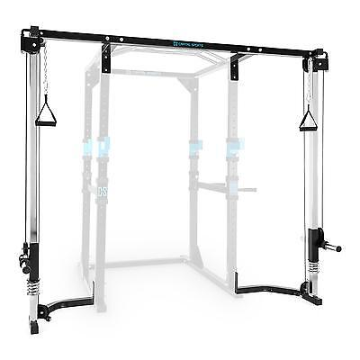 Power Rack Lat Cable Pull Up Expansion Pulley Streching Mount Squat Gym Weight