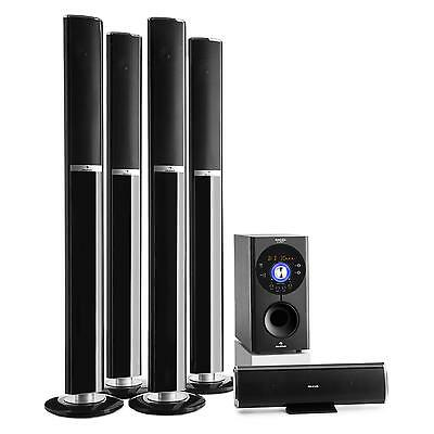 Auna 5.1 Channel Surround Home Cinema Theatre 145 W Rms Bluetooth Usb Sd Black