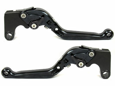Levier levers flip-up foldable  FULL black KAWASAKI Z750 2007/2012