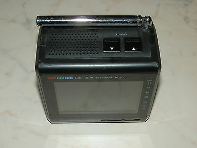 Casio TV-7500 LCD Colour Television / Monitor vintage collectable Made in Japan
