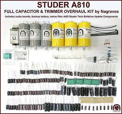 Studer A810 tape recorder FULL machine capacitor service upgrade overhaul kit