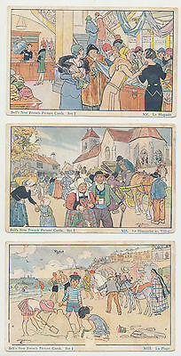 3 Bell's New French Picture Cards Set I