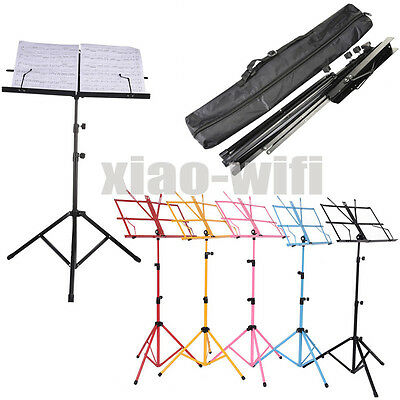 Protable Folding Music Stand Colorful Metal Adjustable Height Music Stand Rack