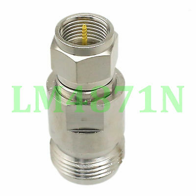 1pce Adapter 75 ohm N female jack to F TV male plug RF connector straight M/F