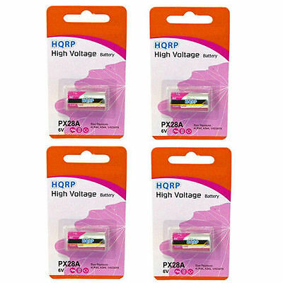 4-Pack HQRP Battery for 4LR44 1414A 4034PX 476A 4AG13 4G13 4NZ13 4SR44 7H34
