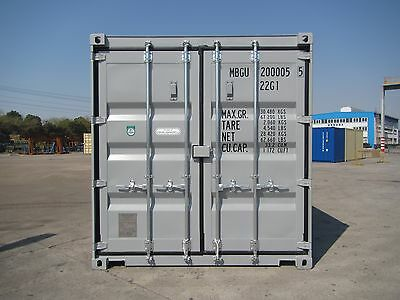 Shipping Containers 20 Foot New Build Grey Ral 7042 Call 0151 329 0228
