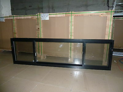 ALUMINIUM SLIDING WINDOW 1800W X 600H  DOUBLE GLAZED NEW Glass Window