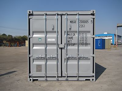 Shipping Containers 20 Foot New Build Grey Ral 7042 Call 01772 367039