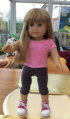 Lovely American Girl Doll Ready To Play Blonde Hair Green Eyes