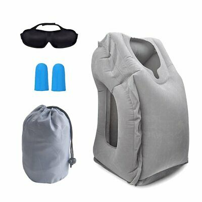 Multifunctional PVC Inflatable Air Cushion Camping Travel Pillows Neck Rest Pad