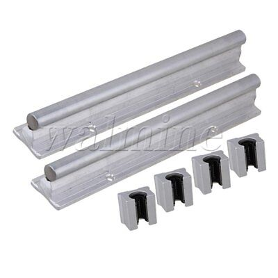 Silver 200mm CNC Linear Motion Bearing Support Rail & Open Bearing Slide