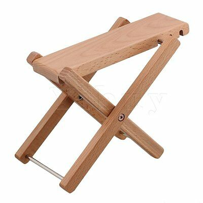 Beech Wood Color Adjustable Height 3Level Foldable Guitar Pedal Footrest