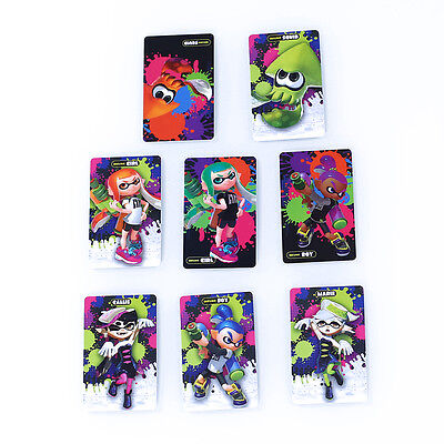 Lot Inkling Girl Amiibo NFC Tag Card Splatoon 8 Series For Nintendo NS Wii U