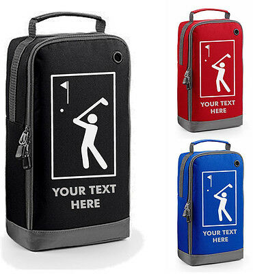 GOLF BAG shoe balls tees shoes YOUR TEXT PERSONALISED GOLFER FATHERS DAY DAD NEW