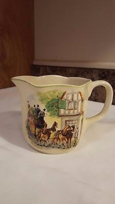 Vintage BCM / Nelson Ware Made in England Coaching Scene Creamer Cream Pitcher