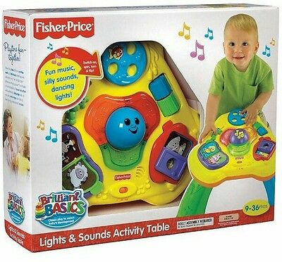 Fisher Price - Lights & Sounds Activity Table **BNIB**