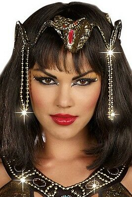 Cleopatra Snake Crown 9518 by Dreamgirl Gold One Size Fits All