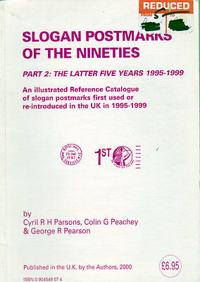 Slogan Postmarks of the 90s Part 2 5 years 1995-1999 Useful Book