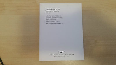 Iwc Flieger Uhr Spitfire Chrono Aut. Ref. 3717 Operating Instruction Booklet