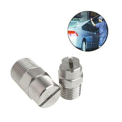 "1/4"" 3/8"" Stainless Steel Sector Spray Nozzle High Pressure Cleaning Washing"