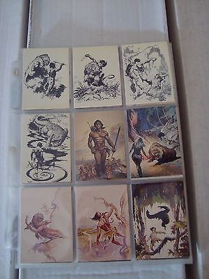 Frank Frazetta Series 2 1993 Comic Images Complete Card Set 1-90 Nm/m W/ Pages