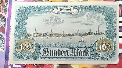 Memel Notgeld 100 mark 1922 circulated good condition