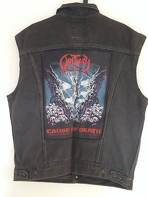 Rare Jacket  LEVIS VINTAGE with  Backpatch   CAUSE OF DEATH  OBITUARY 1980