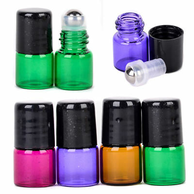 1PC/10PCS/100PCS Empty Roller Ball Roll On Glass Bottles Essential Oil Perfume