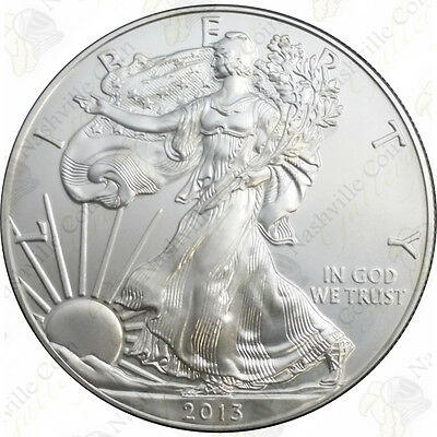 2013 1 oz American Silver Eagle – Brilliant Uncirculated – SKU #1407