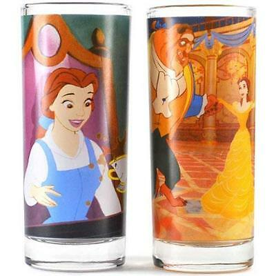 Beauty And The Beast - Be Our Guest Glass Tumbler Set - New & Official Disney