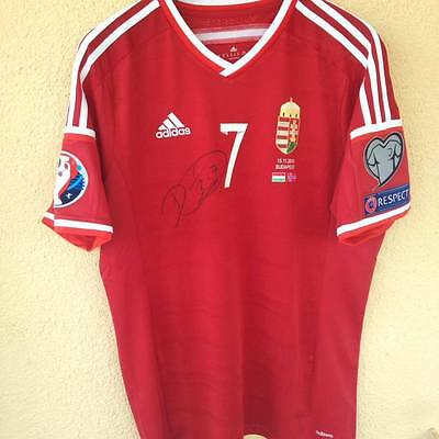 Hungary Match Issued Jersey 2015-Singned